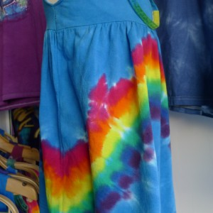Striped – Tie-Dyed Dress – A Brighter World, Santa Cruz, California