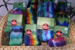 Assorted Wigwam – Tie-Dyed Socks- A Brighter World, Santa Cruz, CA