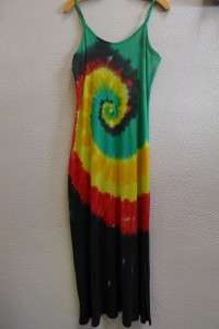 Color Spiral – Tie-Dyed Dress – A Brighter World, Santa Cruz, CA