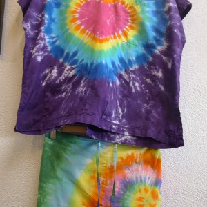 Set – Tie-Dyed Scrubs – A Brighter World, Santa Cruz, CA