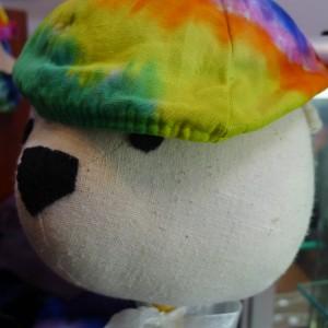 Beret – Tie-Dyed Hat – A Brighter World, Santa Cruz, CA