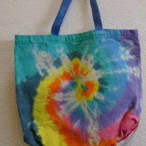 Spiral Wave – Tie-Dyed Shopping Bag – A Brighter World, Santa Cruz, CA