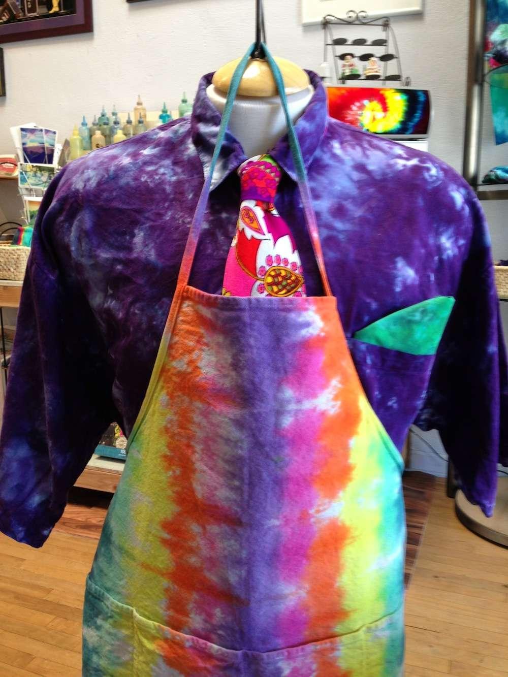 Apron Long 2 – A Brighter World Tie Dye – Santa Cruz, California