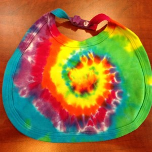 Baby Bib – A Brighter World Tie Dye – Santa Cruz California