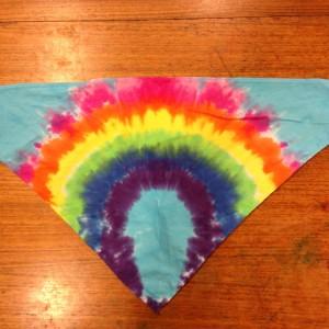 Bandana Triangle – A Brighter World Tie Dye – Santa Cruz, California