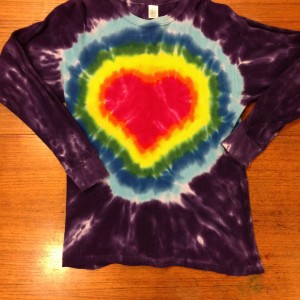 Long Sleeve Crew Heart – A Brighter World Tie Dye – Santa Cruz, California