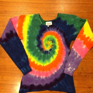 Long Sleeve Deep Neck – A Brighter World Tie Dye – Santa Cruz, California