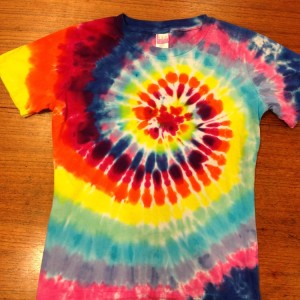 Womens Crew Spiral – A Brighter World Tie Dye – Santa Cruz, California
